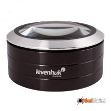 Лупа Levenhuk Zeno 900, 5x, 75 мм, 3 LED, метал