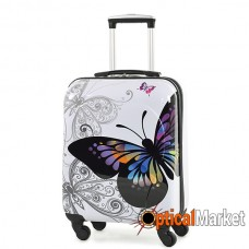 Чемодан Rock MIRO Butterfly (S)