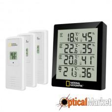 Термометр-гігрометр National Geographic 4 Measurement Results Black (9070200)
