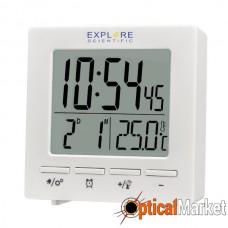 Часы настольные Explore Scientific Mini RC Alarm White (RDC1005GYELC2)