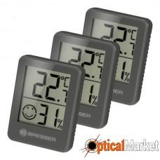 Термометр-гігрометр Bresser Temeo Hygro Indicator (3шт) Grey (7000010QT5000)