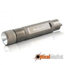 Фонарь Fenix E01 Nichia white GS LED серый