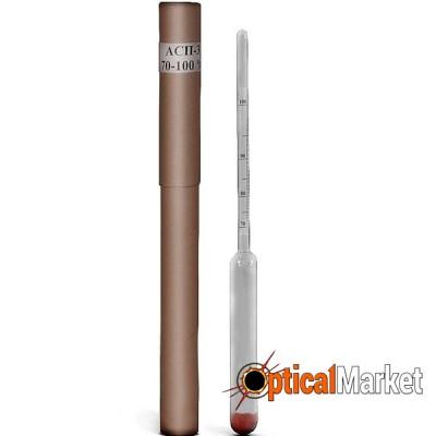 Ареометр для спирта АСП-3 70-100