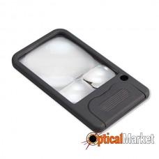 Лупа Carson Pocket Magnifier PM-33 6-5-2.5x