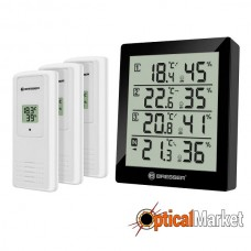 Термометр-гигрометр Bresser Temeo Hygro Quadro Black