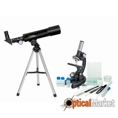 Мікроскоп National Geographic Junior 300x-1200x + Телескоп 50/360