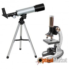 Микроскоп Optima Universer 300x-1200x + Телескоп 50/360 AZ в кейсе