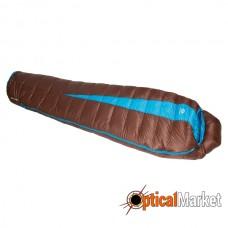 Спальний мішок Sir Joseph Paine 400/190/-5°C Brown/Turquoise (Right)