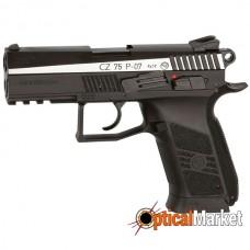 Пистолет пневматический ASG CZ 75 P-07 Duty BlowBack с никелевой вставкой