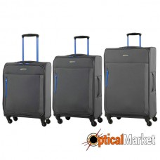Комплект чемоданов Members Hi-Lite (S/M/L) Grey 3шт