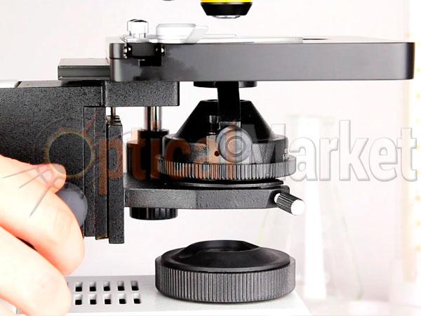Регулировка конденсора микроскопа для настройки освещения по Келлеру