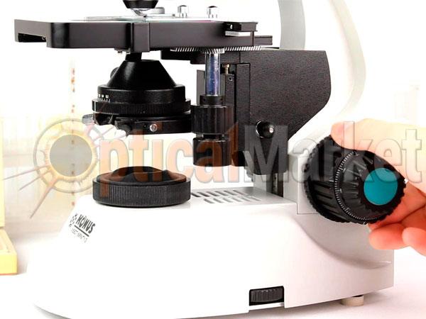 Винты грубой и точной фокусировки микроскопа