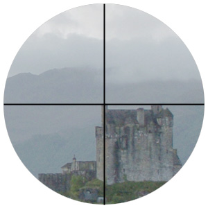 Optical finder reticle