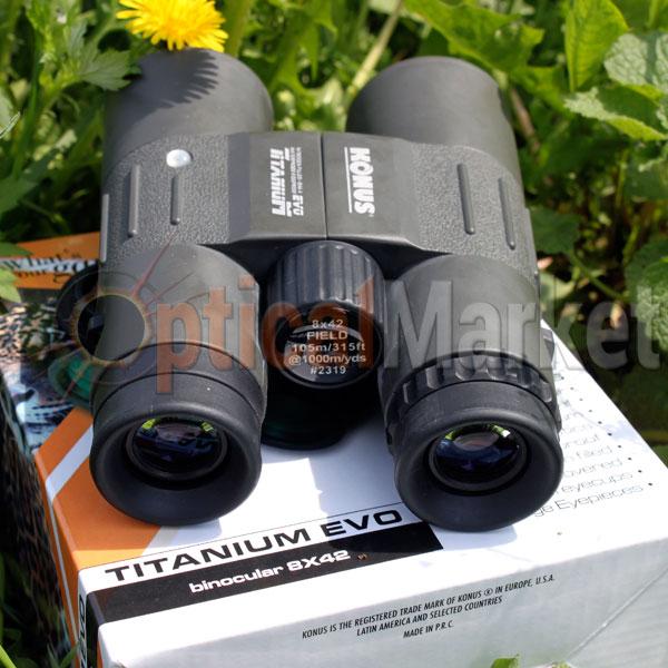 Бинокль Konus Titanium Evo 8x42 для туризма
